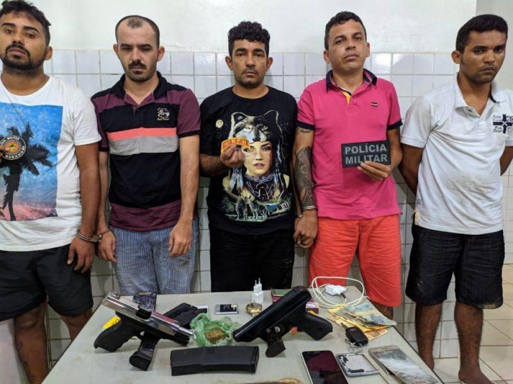 Presos cinco suspeitos de explodir e assaltar agências bancárias em Campo Maior