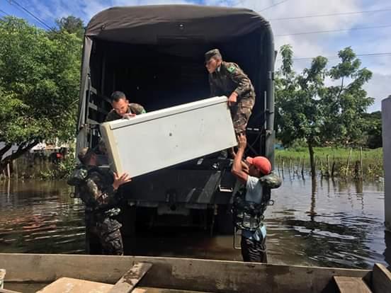 Exército chega a Barras e vai auxiliar no socorro aos afetados pela enchente
