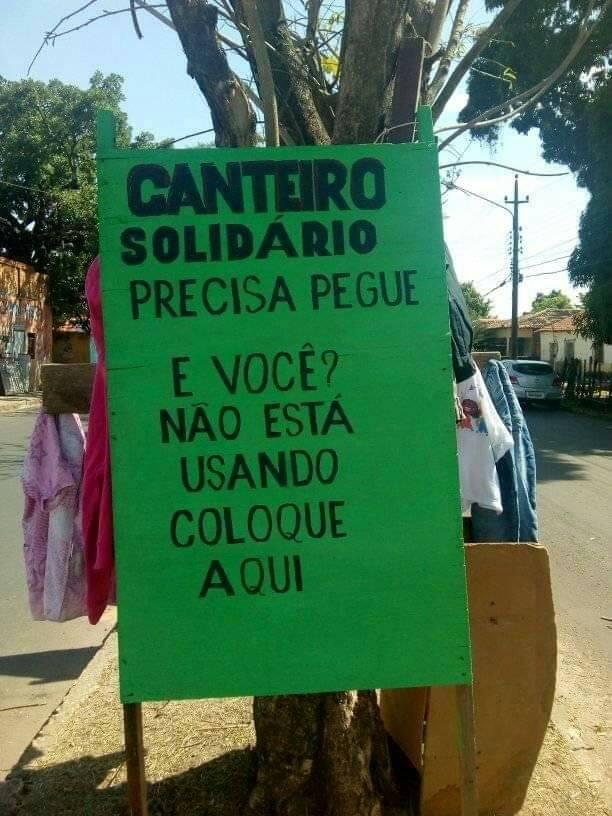 Campanha CANTEIRO SOLIDÁRIO Convidamos a população de Barras PI a participar deixando sua Doação