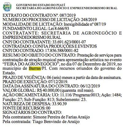 Diário oficial do Estado do Piauí