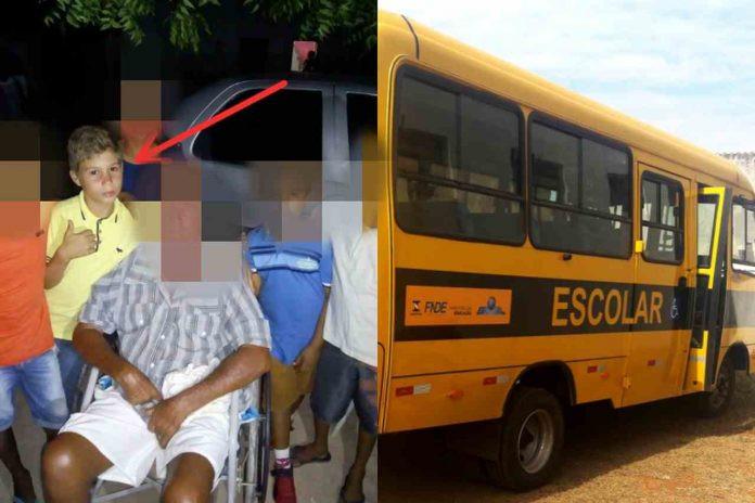 Garoto morre atropelado por caminhonete ao descer de ônibus escolar