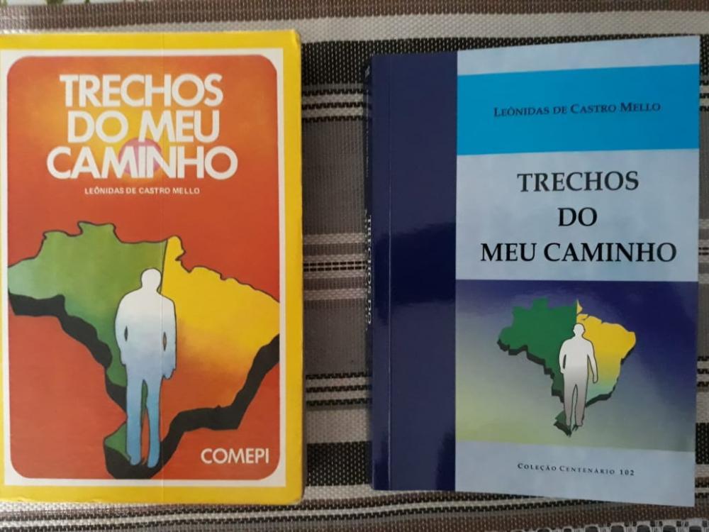 Capas do livro de memórias de Lêonidas Melo (1ª ed - 1976) e (2ª ed. 2019)