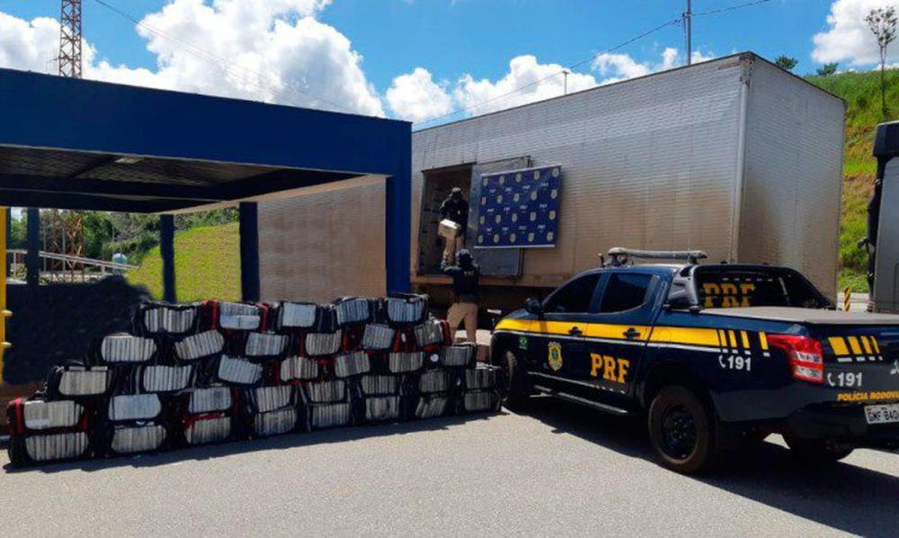 PRF apreende mais de 1 tonelada de cocaína na BR-381 em MG