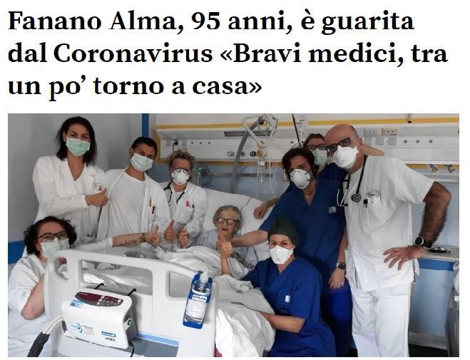 Italiana de 95 anos é curada do coronavírus