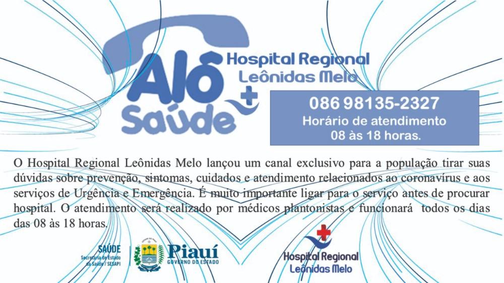 Hospital Leônidas Melo lança canal de atendimento por telefone