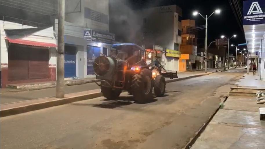 Ruas de cidade do Piauí estão sendo higienizadas