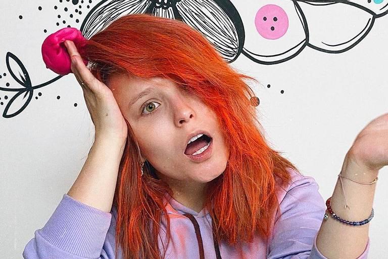 Larissa Manoela aparece com o cabelo laranja: 'Enlouqueci'