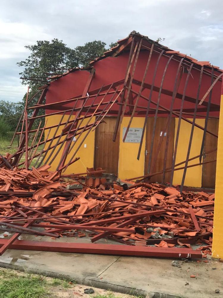 Obra mal feita que custou R$ 103 mil desaba no Norte do PI