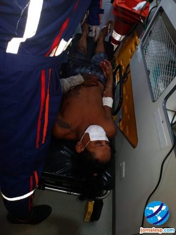 Homem é atingido com um tiro durante suposta tentativa de assalto