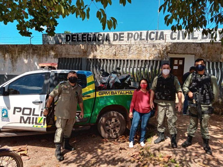 Batalha: Polícia Militar recupera moto tomada de assalto há seis meses