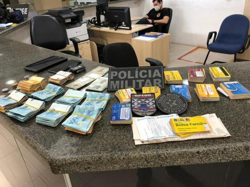 Três suspeitos são presos com cartões da Caixa e mais de R$ 20 mil de auxílio emergencial no MA