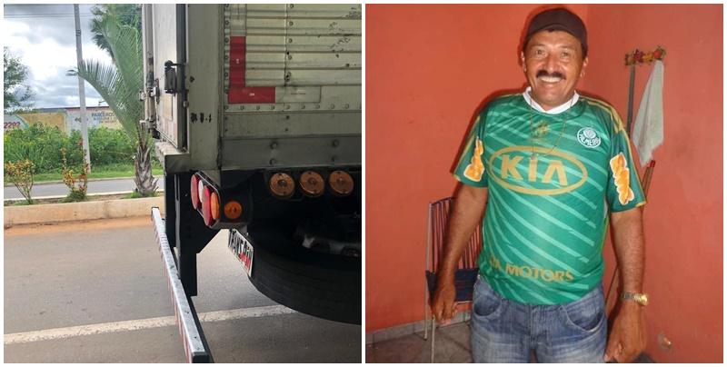 Motociclista morre após colidir com caminhão baú em São Miguel do Tapuio