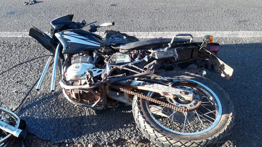 Colisão entre caminhão e moto deixa empresário ferido, em Passagem Franca PI