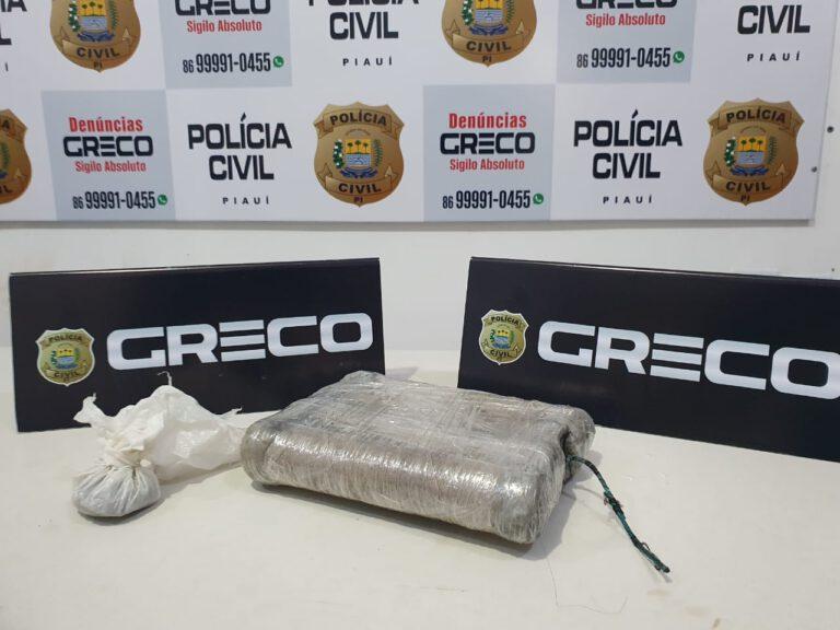 Suspeito é é preso com droga e explosivos em Teresina