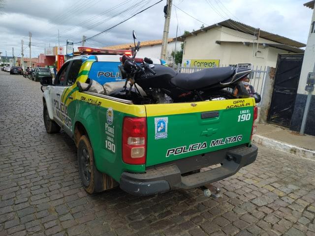 PM do Piauí recupera moto roubado no Estado de Pernambuco