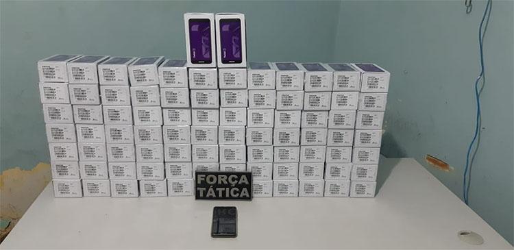 Piauí: Polícia apreende 86 celulares roubados de carga em SP