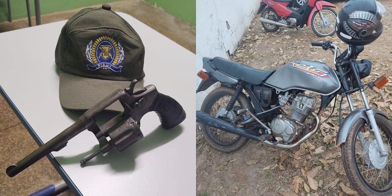 Polícia Militar recupera moto, celular e um revólver após perseguir ladrões no Piauí