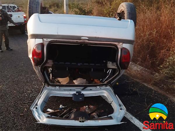 Cabo da Polícia Militar sofre acidente na PI 115 próximo a cidade de Assunção do Piauí