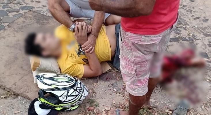 Homem tem perna dilacerada em grave acidente no Piauí