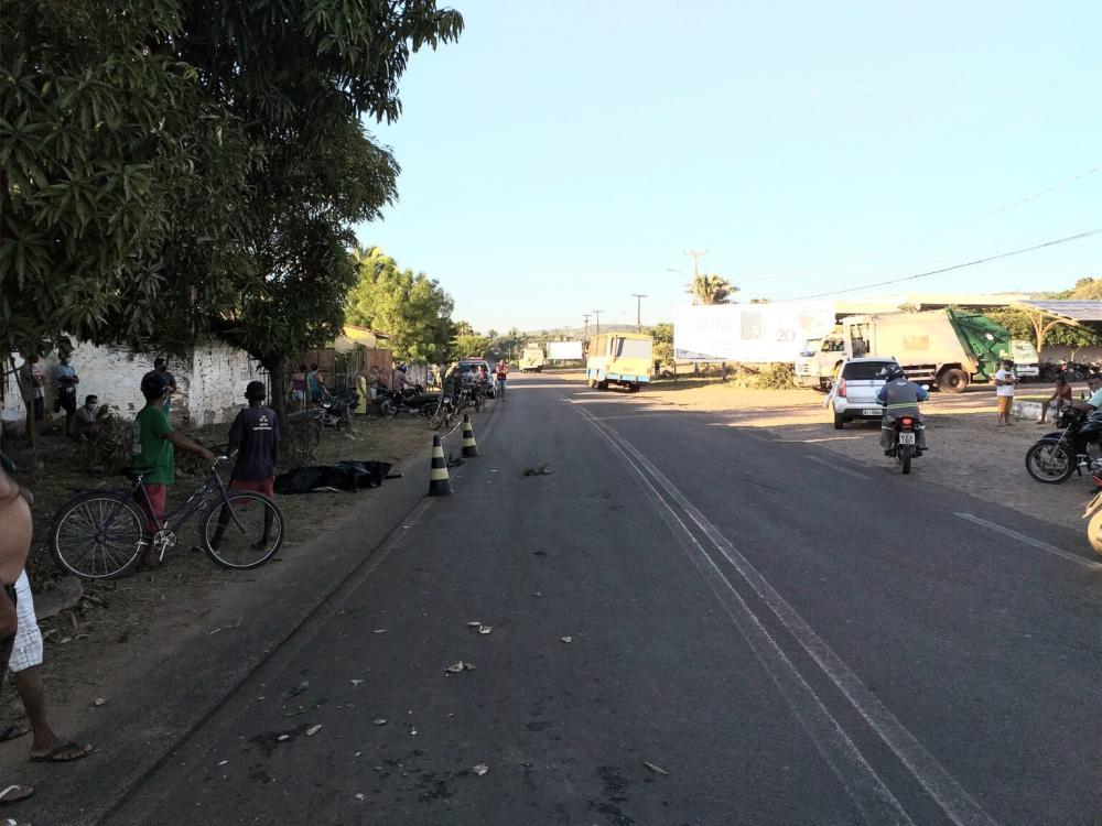 Homem morre após ser atingido por ônibus em cidade do Norte do PI