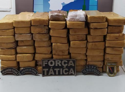Jovem de 18 anos é preso suspeito de tentar entrar no PI com 59 tabletes de maconha