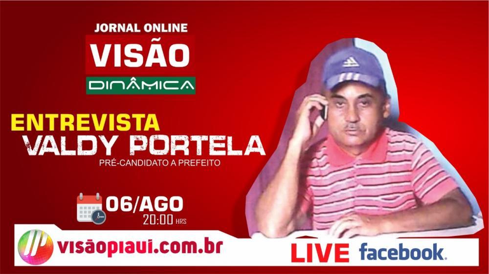 Visão Dinâmica: entrevista com o pré candidato Valdy Portela, nesta quinta (06)