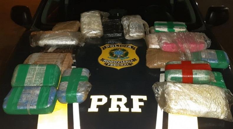 PRF apreende carga de maconha e cocaína avaliada em R$ 640 mil no Piauí
