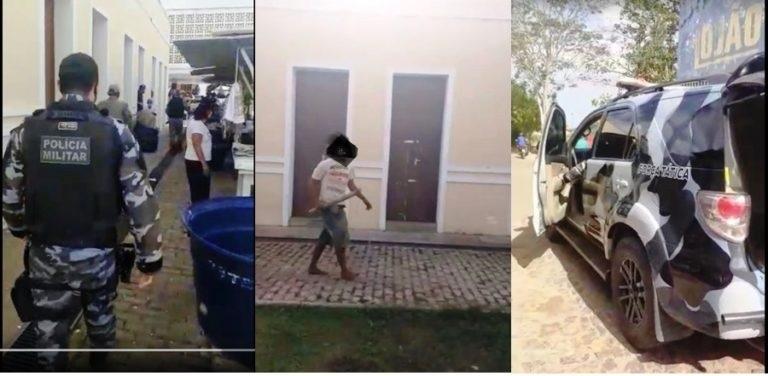 Homem danifica rede elétrica e agride pessoas em mercado público em Esperantina