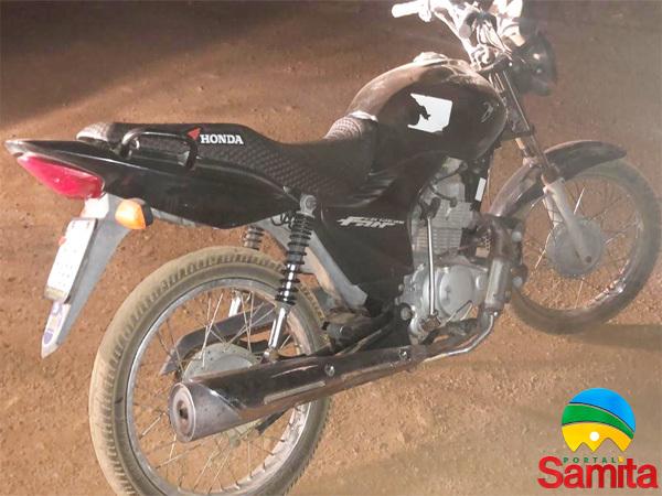 PM recupera moto que foi furtada em menos de 30 minutos