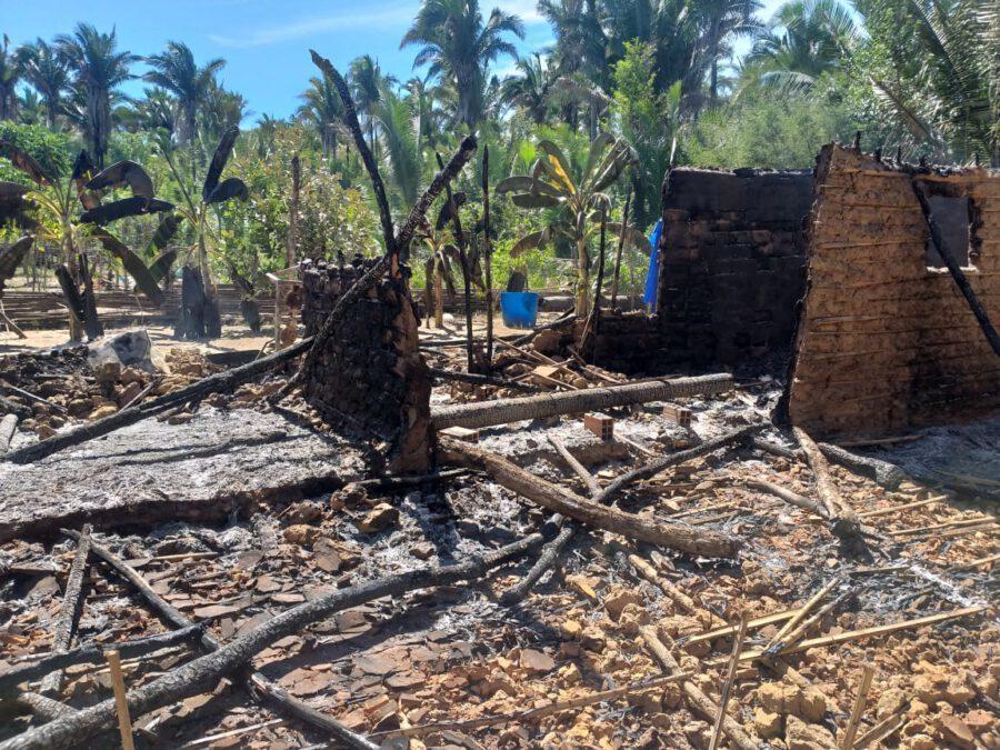 Incêndio destrói casa e família perde tudo em União PI
