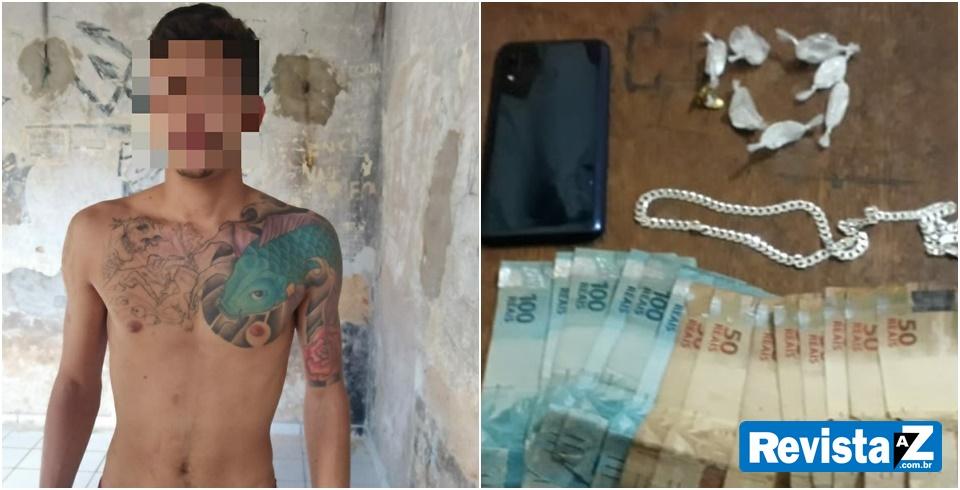 Suspeito de pratica assalto é preso pela polícia militar em Esperantina