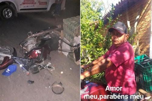 Vendedor morre após colidir em cavalo na PI 236
