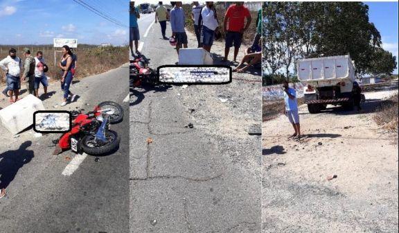 Peixeiro morre em colisão de moto com caçamba no litoral do PI