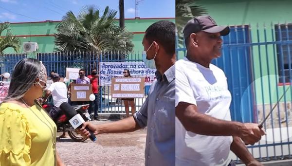 Aprovados em concurso são ameaçados com facão durante protesto em N. Sra dos Remédios - PI. VÍDEO!