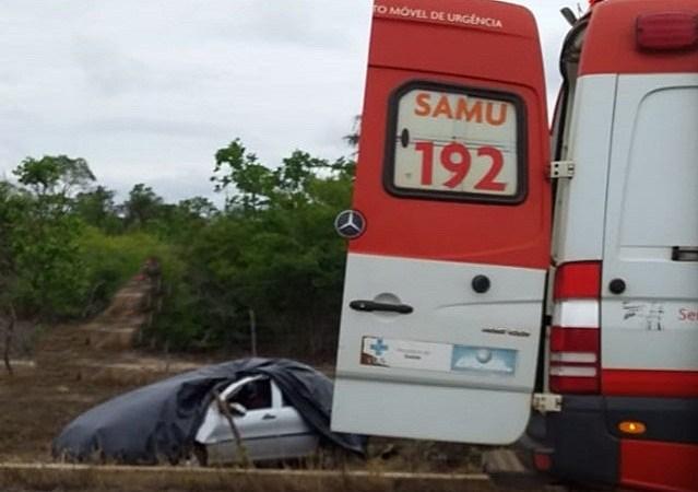 Duas pessoas saem feridas em grave acidente na PI 113, em José de Freitas