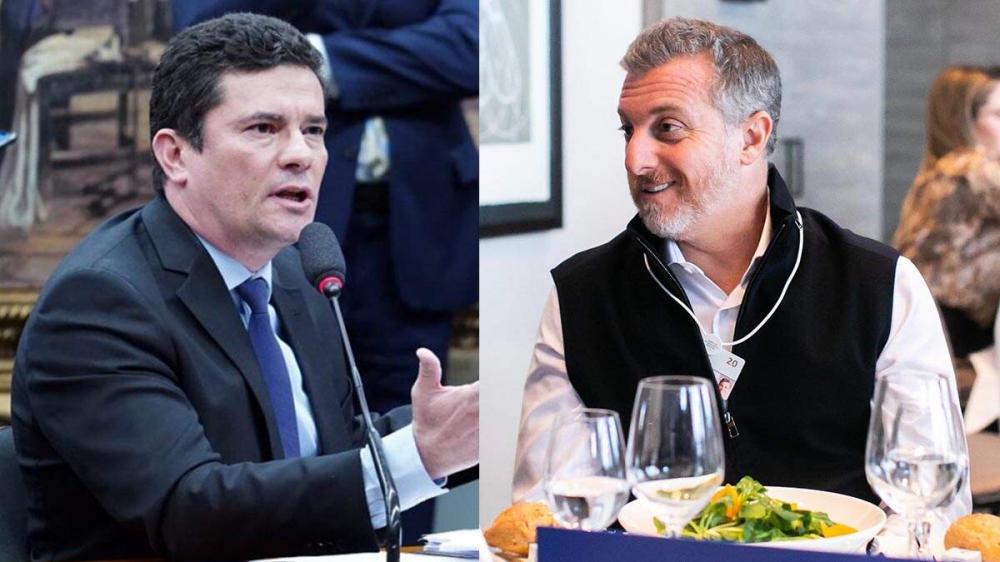 Sergio Moro e Luciano Huck negociam aliança para eleição em 2022, diz site