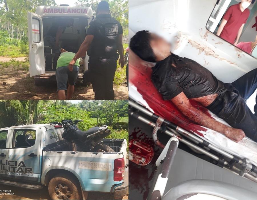 Suspeito de assalto é baleado por vítima em São João do Arraial