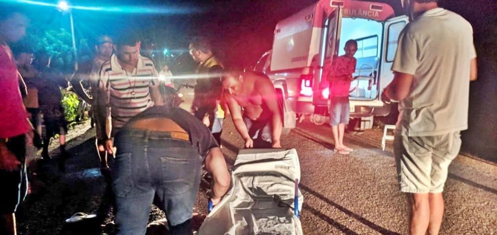 Caxingó: colisão frontal entre motocicletas deixa duas pessoas feridas