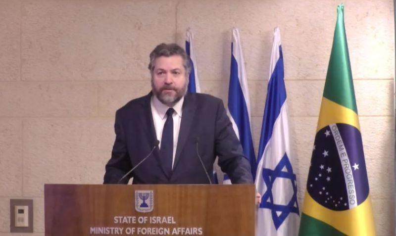 Araújo também terá reunião com o primeiro-ministro Benjamin Netanyahu - (Foto: Reprodução)