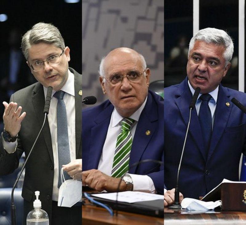 Alessandro Vieira, Lasier Martins e Major Olimpio: três senadores com covid - (Foto: Reprodução Senado Federal)