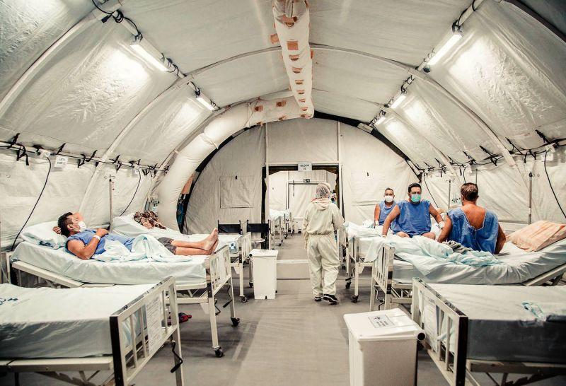 Hospital de campanha inaugurado em Manaus após a crise do oxigênio - (Foto: Caio de Biasi/MS - 27.01.2021)
