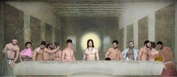 Versão erótica da 'Santa Ceia' chocou a internet
