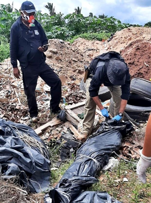 Corpo de homem é encontrado dentro de um saco de lixo às margens da BR-343
