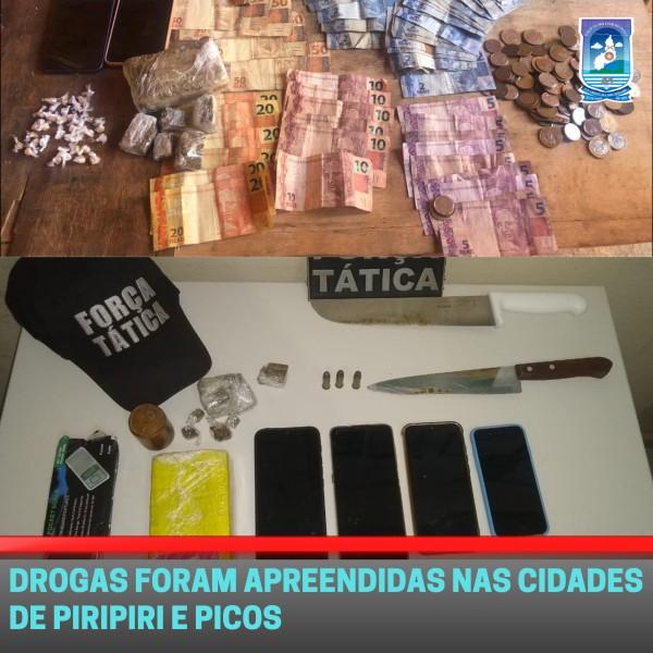 Polícia faz apreensão de drogas em duas cidades do Piauí