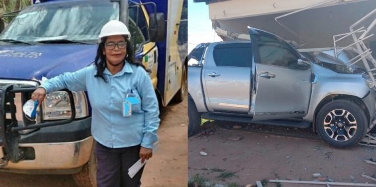 Condutor perde controle de veículo, atropela e mata mulher que estava em calçada