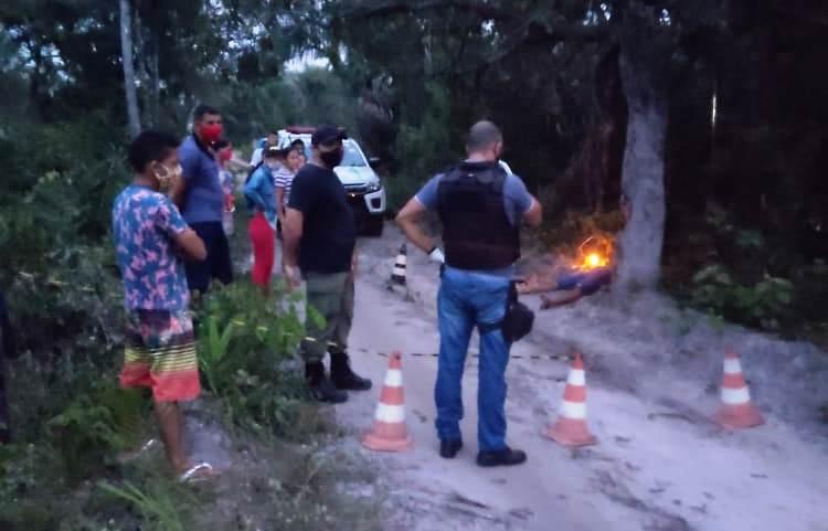 Homem morto com golpe de machado em São João do Arraial