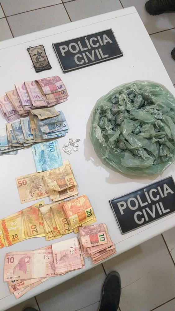 Polícia Civil apreende drogas, dinheiro e prende suspeito em Miguel Alves