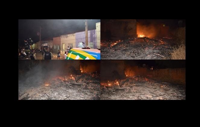 Incêndio causa pânico em população de cidade do Piauí - Foto: WD Noticias