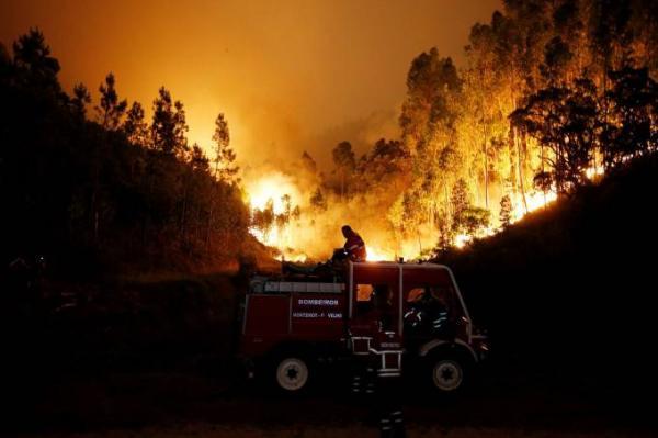 Incêndio florestal em Portugal mata 62 pessoas