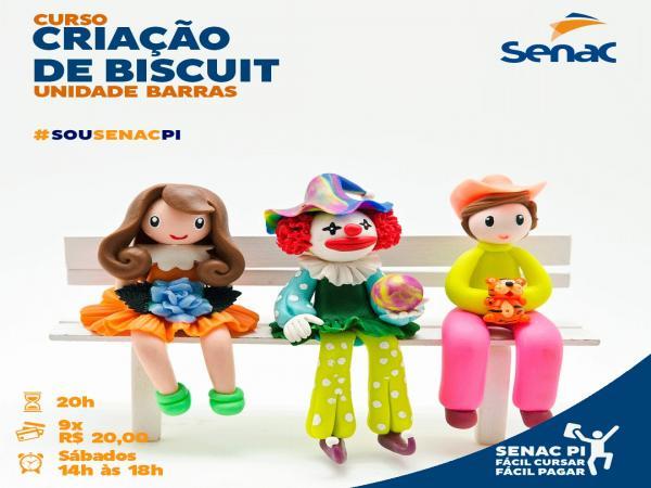 SENAC Barras: Curso criação de biscuit
